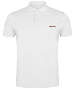 Polo de Hombre-Daevor Premium Blanco