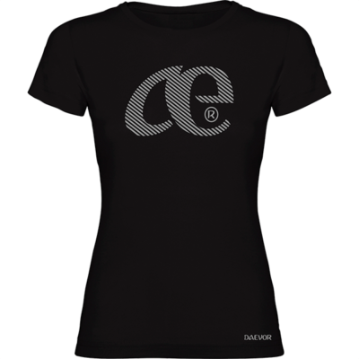 Camiseta Casual Mujer-Daevor Talía Negra-Plata