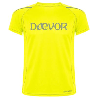 Camiseta Hombre Técnica-Daevor Amarillo Fluor