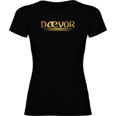 Camiseta de Manga Corta Mujer-Daevor Atenea Negra
