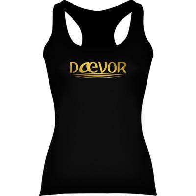 Camiseta Casual De Mujer-Daevor Gea Negra