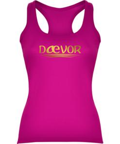 Camiseta Casual De Mujer-Daevor Gea Fucsia