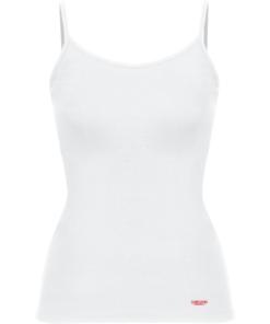 Camiseta Casual Ajustada De Mujer-Daevor Patrice Blanca