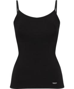 Camiseta Casual Ajustada De Mujer-Daevor Patrice Negra