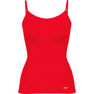 Camiseta Casual Ajustada De Mujer-Daevor Patrice Roja