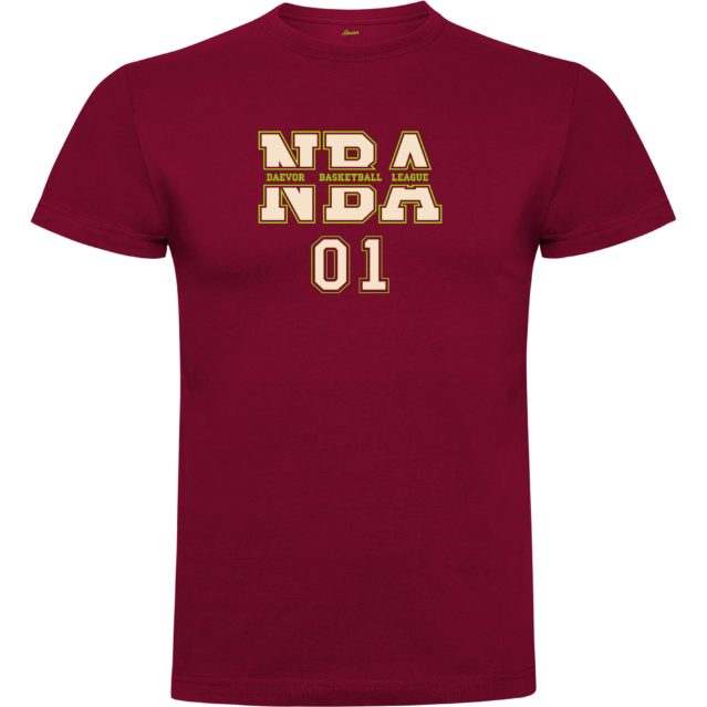 Daevor NBA Basketball League Hombre Granate